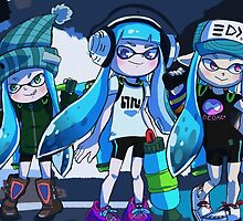 Squid Girl Squad by Mewsel