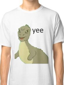 Yee [dinosaur maym :^)] (version 1, video quality, black text) Classic T-Shirt