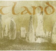 OUTLANDER Scotland Design Scottish Scenery Standing Stones Sticker