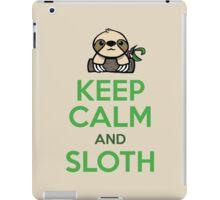 Keep Calm and Sloth iPad Case/Skin