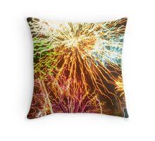 Éclat d'explosif de couleur Throw Pillow
