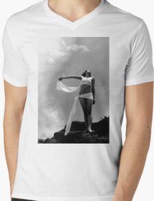 Shoot On Cliff Mens V-Neck T-Shirt