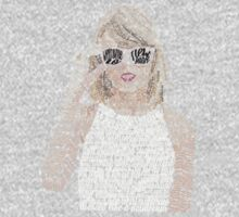 Taylor Swift Typography One Piece - Long Sleeve
