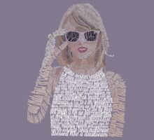 Taylor Swift Typography Kids Clothes