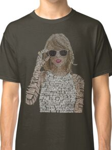 Taylor Swift Typography Classic T-Shirt
