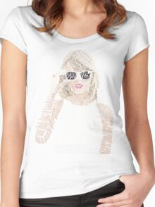 Taylor Swift Typography Women's Fitted Scoop T-Shirt