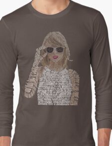 Taylor Swift Typography Long Sleeve T-Shirt