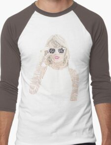 Taylor Swift Typography Men's Baseball ¾ T-Shirt