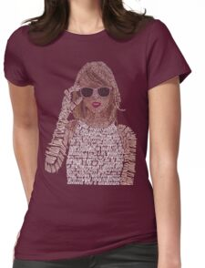 Taylor Swift Typography Womens Fitted T-Shirt