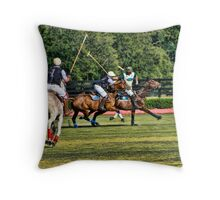 Heat Of The Polo Moment! Throw Pillow