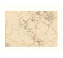 Canberra Acton Map 1933 Art Print
