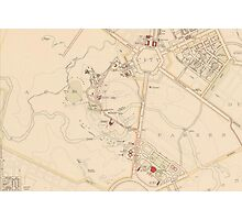 Canberra Acton Map 1933 Photographic Print