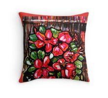 Desert roses/fence Throw Pillow