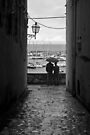 Walking in the Rain, Ortranto, Italy by Debbie Pinard