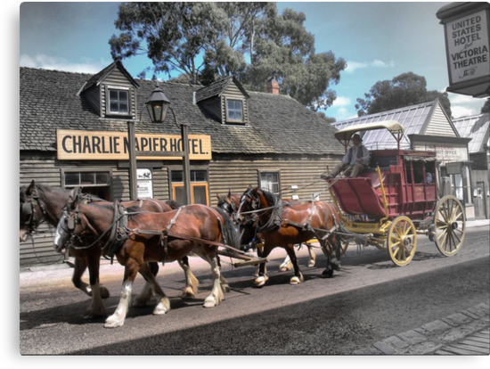 Cobb & Co at Sovereign Hill by Larry Lingard-Davis