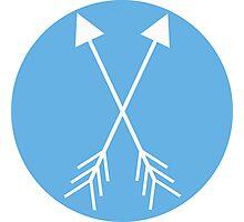 Blue Arrows Photographic Print