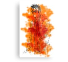 Tenth Doctor Sees Red Metal Print