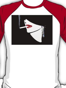Red Lips, Vintage fashion art, Sophisticated woman T-Shirt