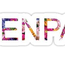 Senpai Floral Print Sticker