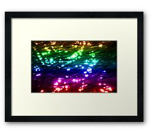Rainbow Waves - sparkling waves of many colours Framed Print