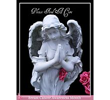 Please Find A Cure Angel Photographic Print