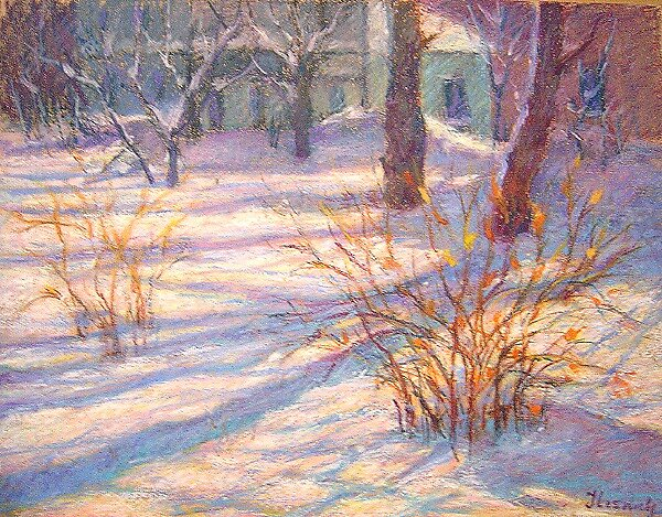 Sunny winter morning by Julia Lesnichy