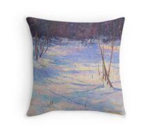 Snow shadows 1 Throw Pillow