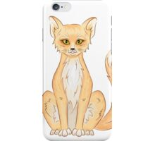 Hand drawn cute sitting fox iPhone Case/Skin