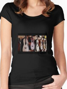 music.... Women's Fitted Scoop T-Shirt
