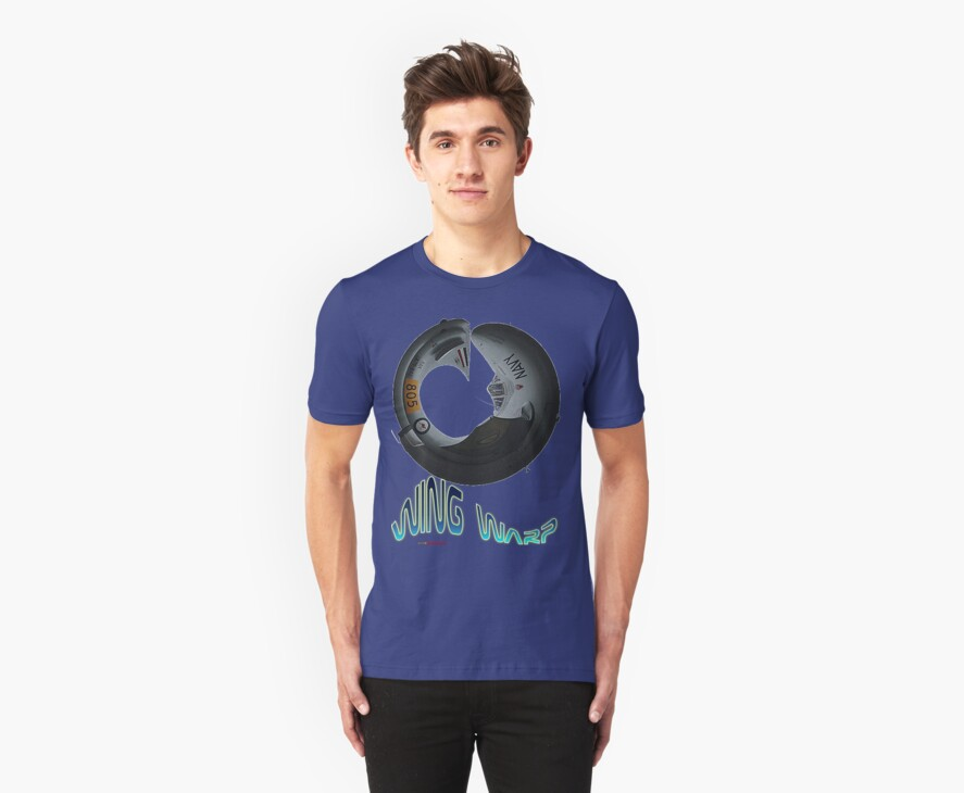 Vampire A79-842 Wing Warp T-shirt Design by muz2142