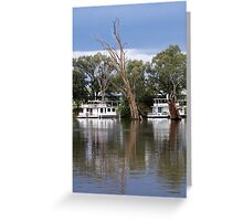 Houseboats on the River Murray Greeting Card