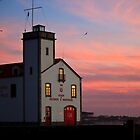 colored sky over house by Arbaes