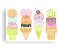 Ice Cream Stamps Metal Print