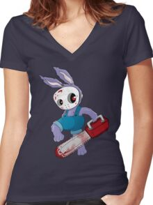 Bunnson X Women's Fitted V-Neck T-Shirt