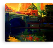 Princes Bridge-Melbourne Canvas Print