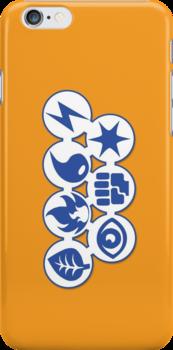 First Gen Pokemon Types by sogr00d