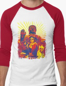 MONKEY MAGIC! (Fiery) Men's Baseball ¾ T-Shirt