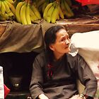 Red Ribboned Fruit Seller by David Mellor