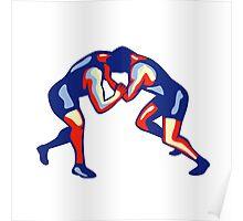 Freestyle Wrestling Retro Poster
