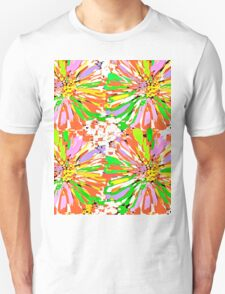 Dahlia Color burst  Flower Abstract T-Shirt