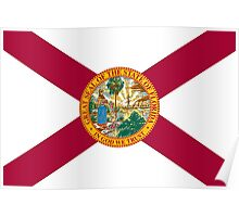 State Flags of the United States of America -  Florida Poster