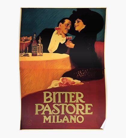 Leopoldo Metlicovitz 1913  Bitter Pastore Poster