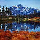 Mount Shuksan  by Aziz Mohammed
