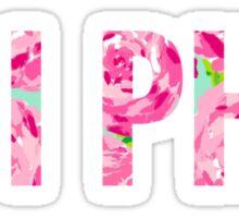 Pi Phi Floral Sticker