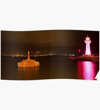 Wollongong Harbour and Lighthouse - Pink Ribbon Day Poster