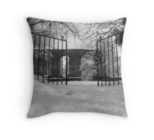 Gateway Of Winters Past Throw Pillow