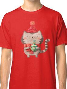 Cute Cat Christmas Classic T-Shirt