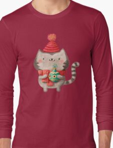 Cute Cat Christmas Long Sleeve T-Shirt