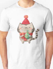 Cute Cat Christmas Unisex T-Shirt