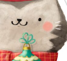 Cute Cat Christmas Sticker